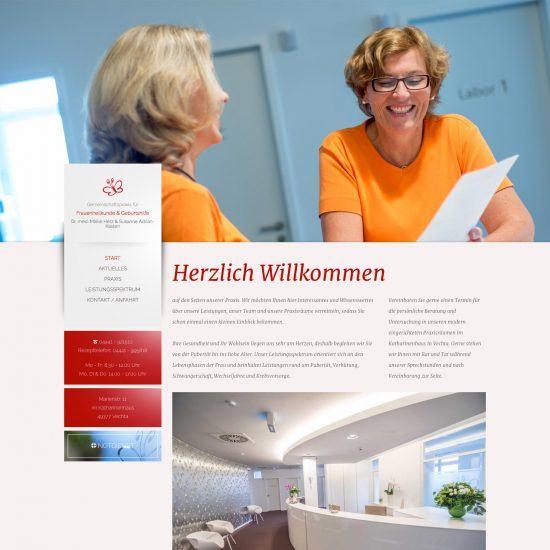 Websitereferenzen_Frauenaerztinnen_Startseite
