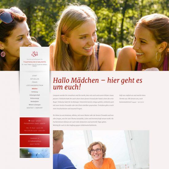 Websitereferenzen_Frauenaerztinnen_Unterseite
