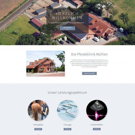 Websitereferenzen_PferdeklinikMuehlen_Startseite